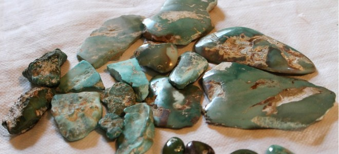 green turquoise from Stone Mountain Mine