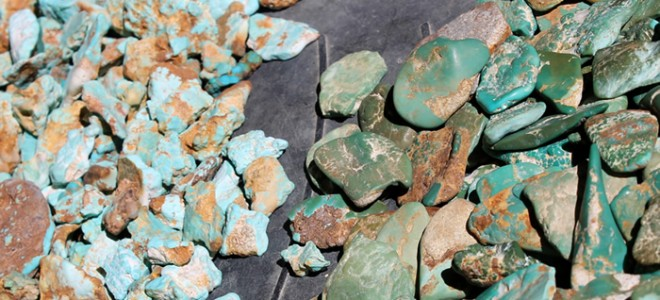 Blue and Green Turquoise from Stone Mountain Mine