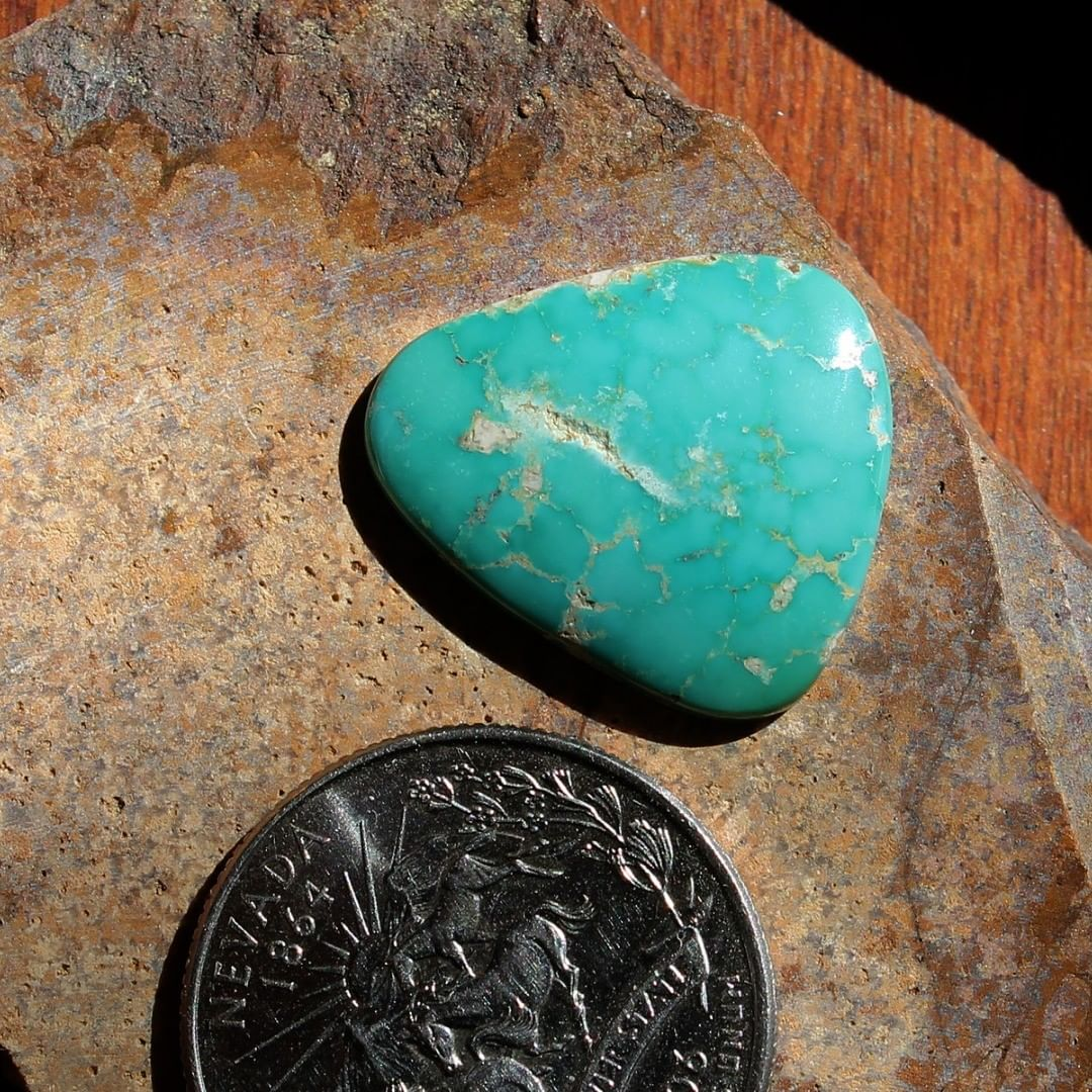 Deep blue Stone Mountain Turquoise cabochon Instagram Sale Price #instapriced  $30 for 10.8 carats untreated & un-backed Nevada turquoise.  @nevadacassidys#februarysale