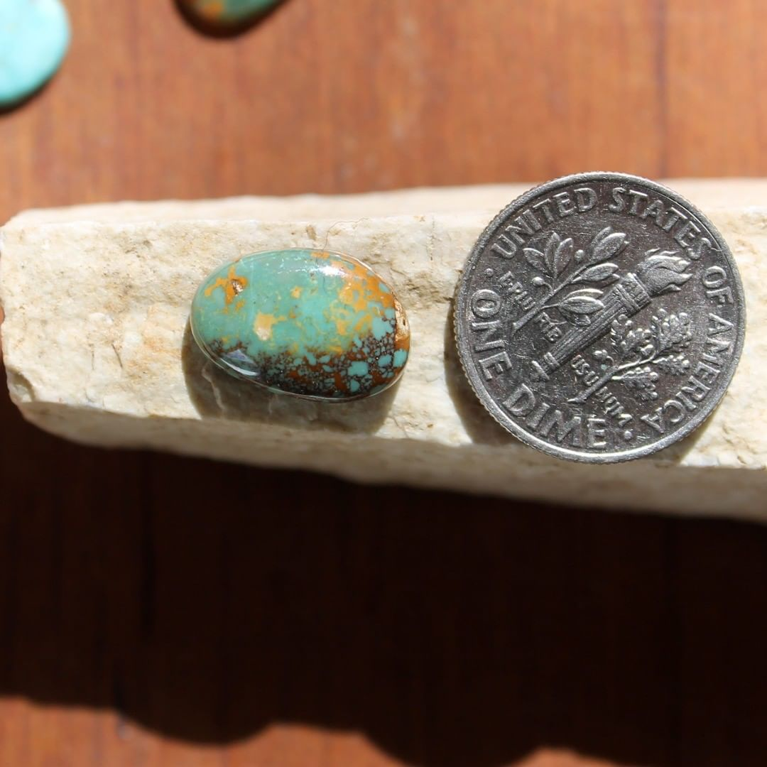 Natural turquoise cabochon w/ spiderweb matrix from Taubert Hills Instagram    $14 for 4.2 carats un-backed & untreated Nevada turquoise. .com