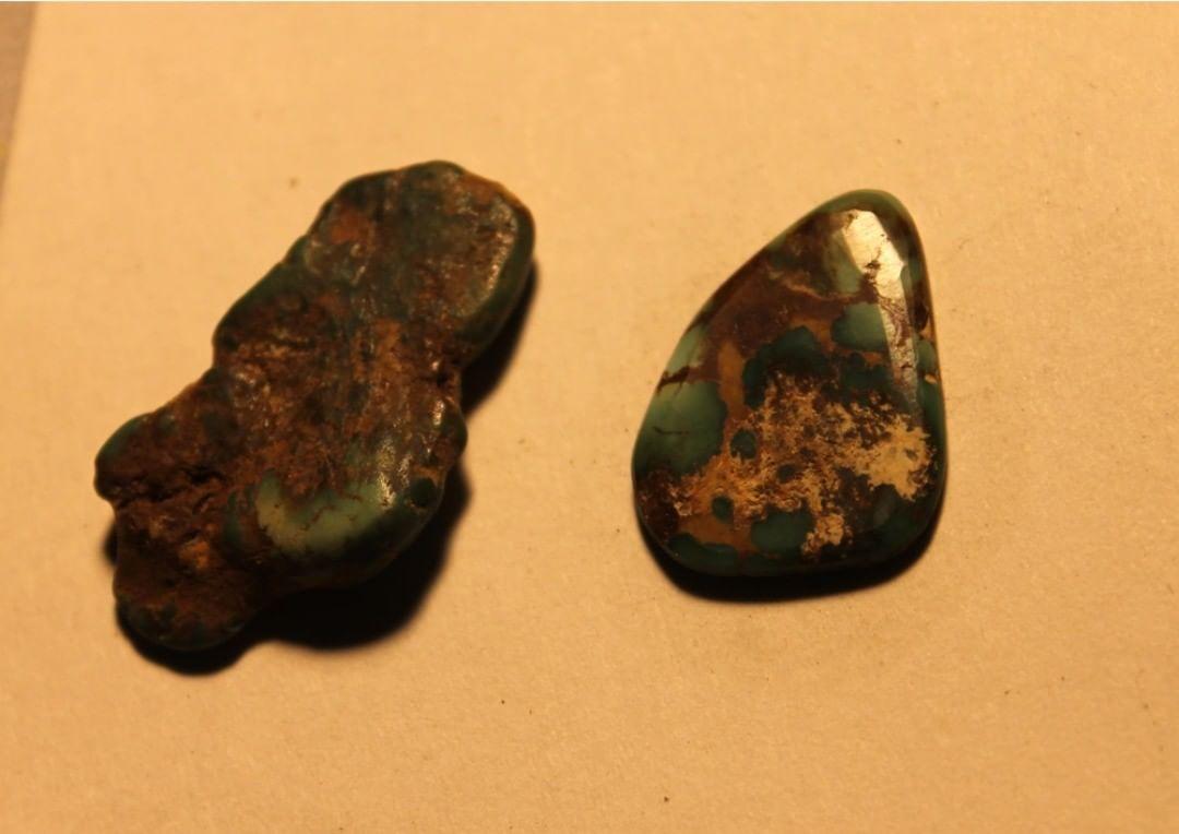 Turquoise vein study, nugget veins (Stone Mountain Turquoise NFS)