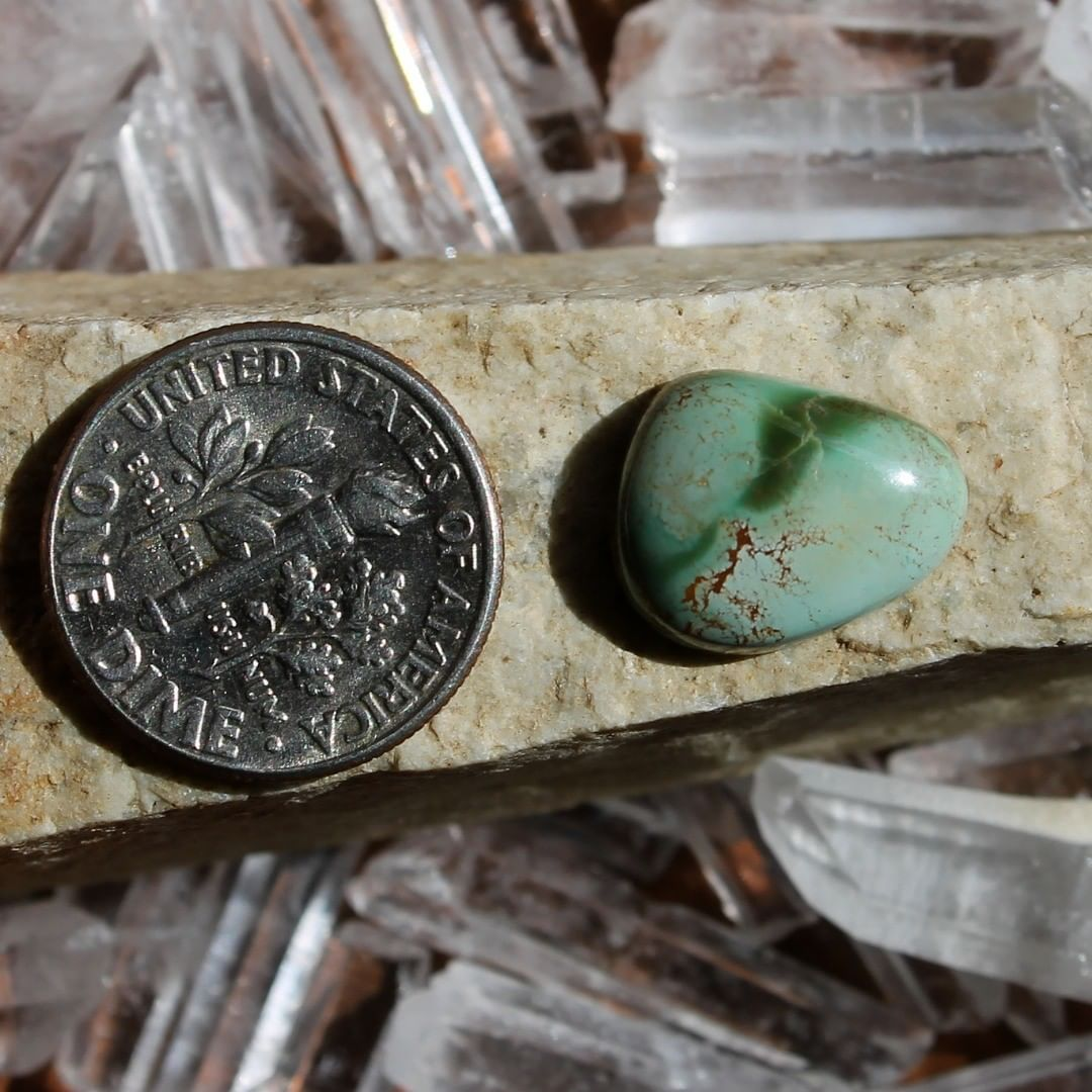 Mutli color Stone Mountain Turquoise Cabochon Instagram    $12.00 for 4.4 carats untreated & un-backed Nevada turquoise.