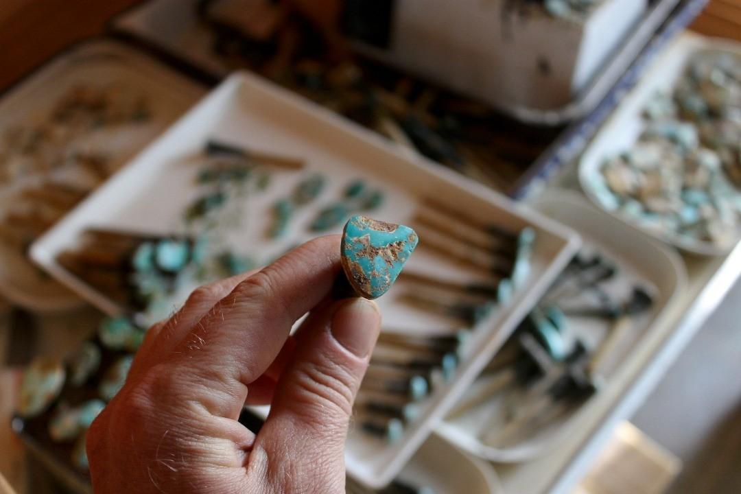 Some good things in the works #naturalturquoise #lapidaryartist #turquoisesupplier #turquoiseoverdiamonds #jewelersbench