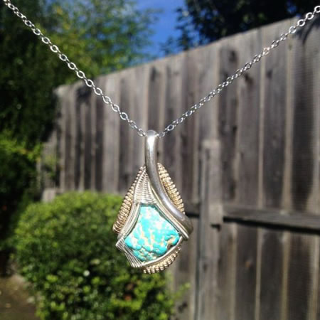 Dylan Clevenger's Exquisite Wire Wrap with Stone Mountain Turquoise